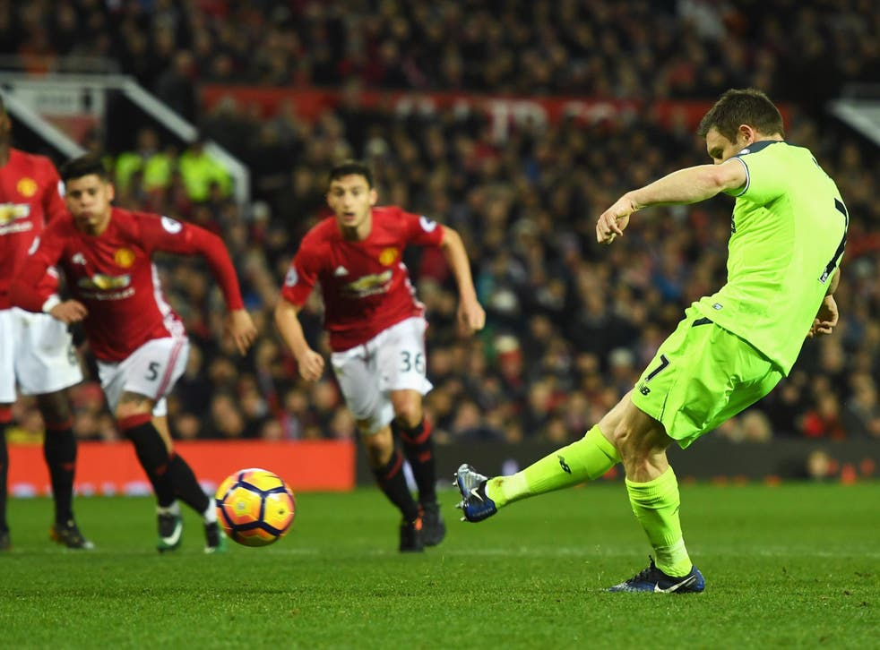 Milner converted the penalty after Pogba's handball