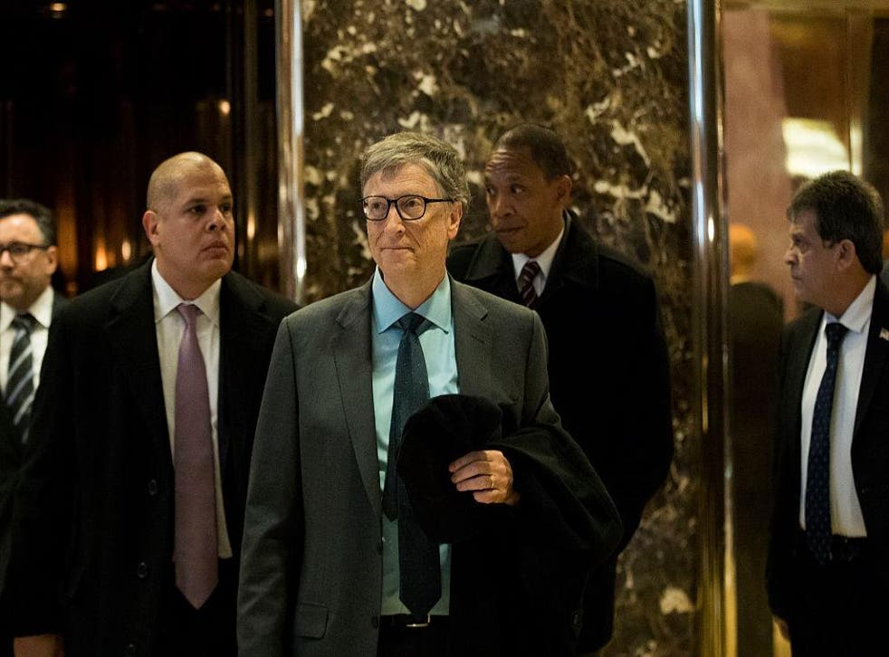 """Mr Gates, the world's richest man, revealed he had a """"good discussion"""" with Mr Trump in December"""
