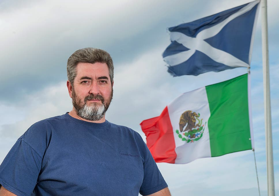5ac15de76a David Milne is marking Donald Trump's inauguration by flying the Mexican  flag alongside the Scottish Saltire