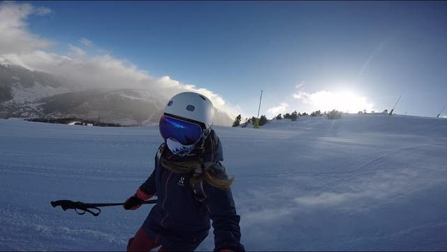 Skiing on the pre-opening-hours slopes in Andorra (Ellie Ross)