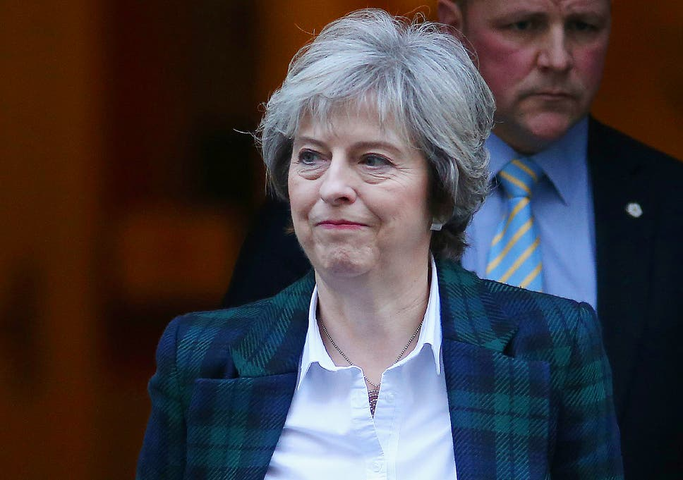May leaves 10 Downing Street to make her keynote speech on the process of Britain  leaving 64728ef947