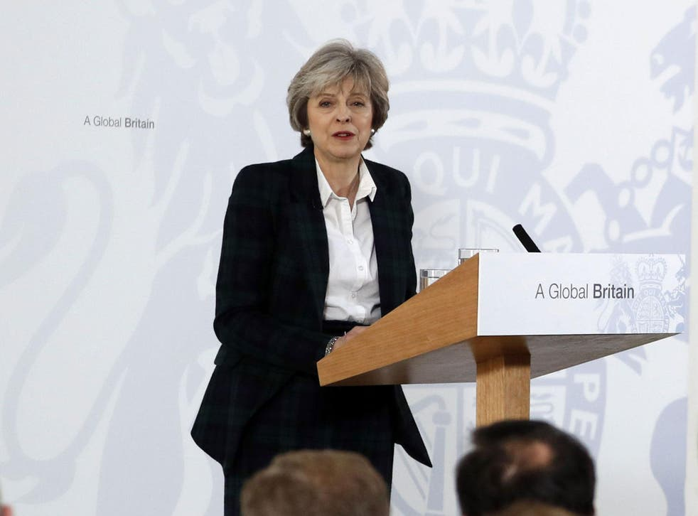 Theresa May says she wants to avoid transitional status 'in which we find ourselves stuck forever in some kind of political purgatory'