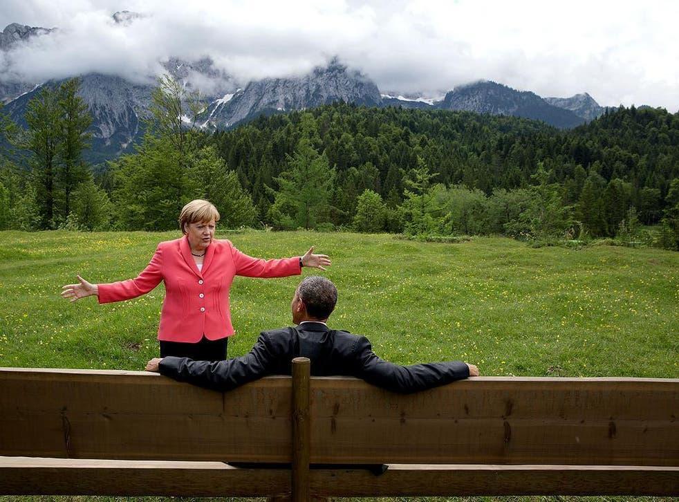Barack Obama passed on his mantle to Angela Merkel, not his successor Donald Trump