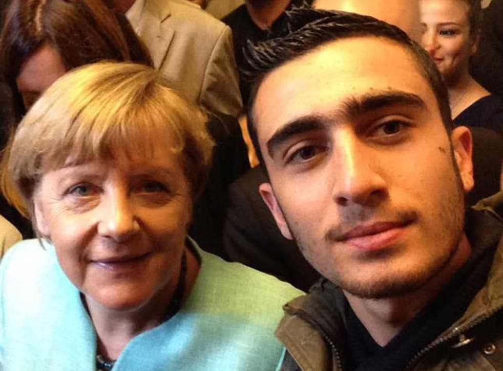 Anas Modamani, a teenage Syrian refugee, took a selfie with Angela Merkel when she visited his shelter in Berlin on 10 September 2015