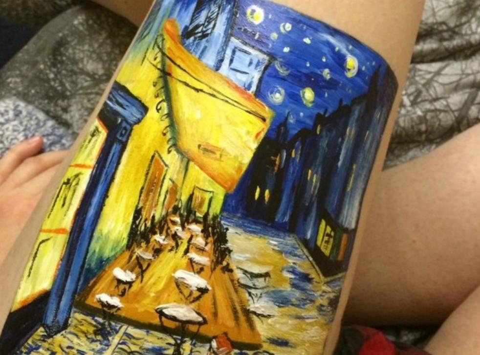 Amelia Hall recreated the Van Gogh painting on her leg rather than self-harm