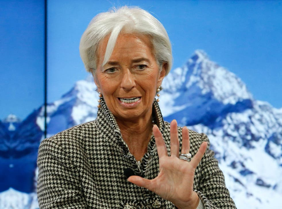 Ms Lagarde was speaking at a session on how to fix the middle class crisis