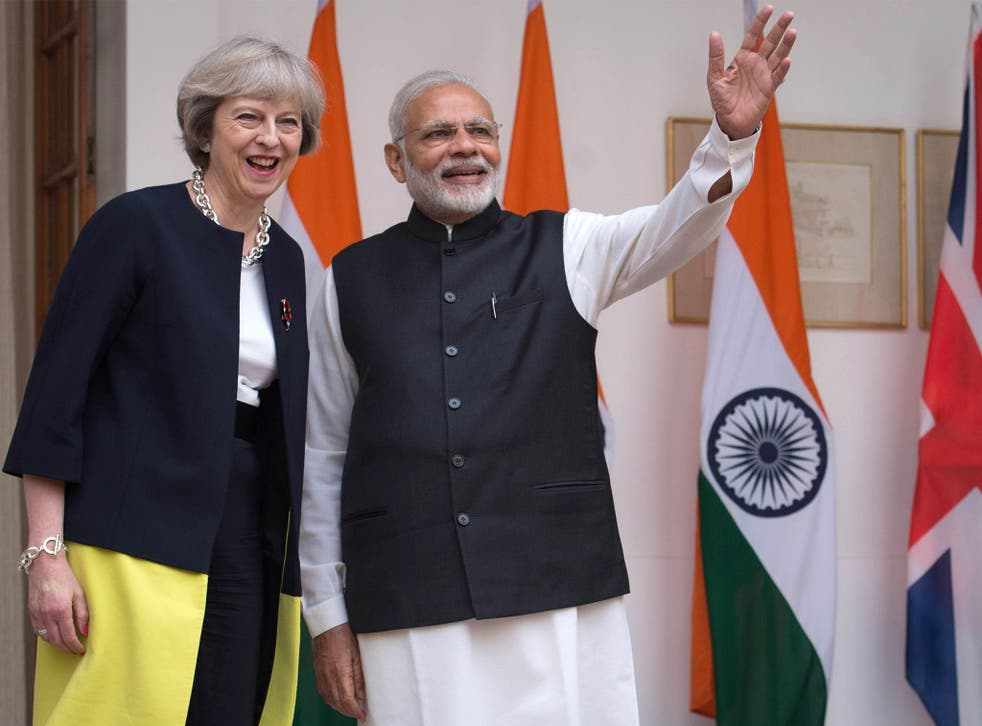 The Conservatives have been consolidating ties with India's Narendra Modi