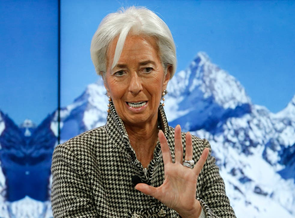 Ms Lagarde is not the first delegate of this year's conference to issue a warning in a direct nod to Mr Trump