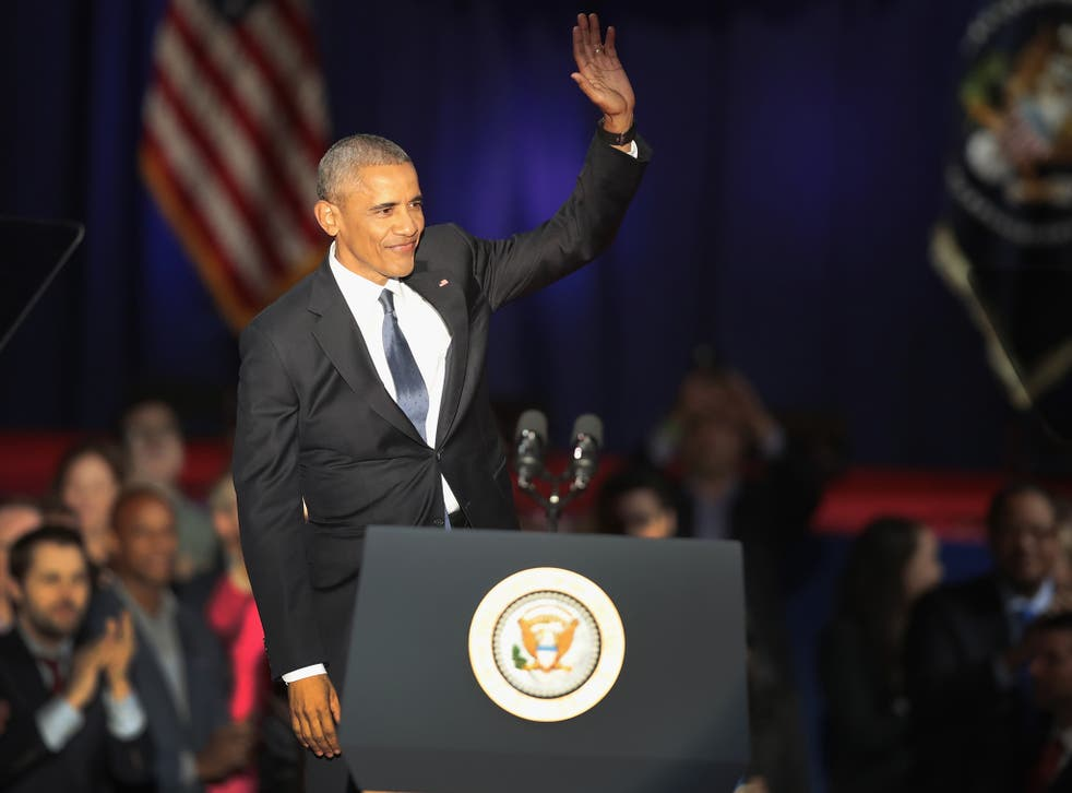 Obama gave his farewell speech in Chicago, the birthplace of his fateful political career