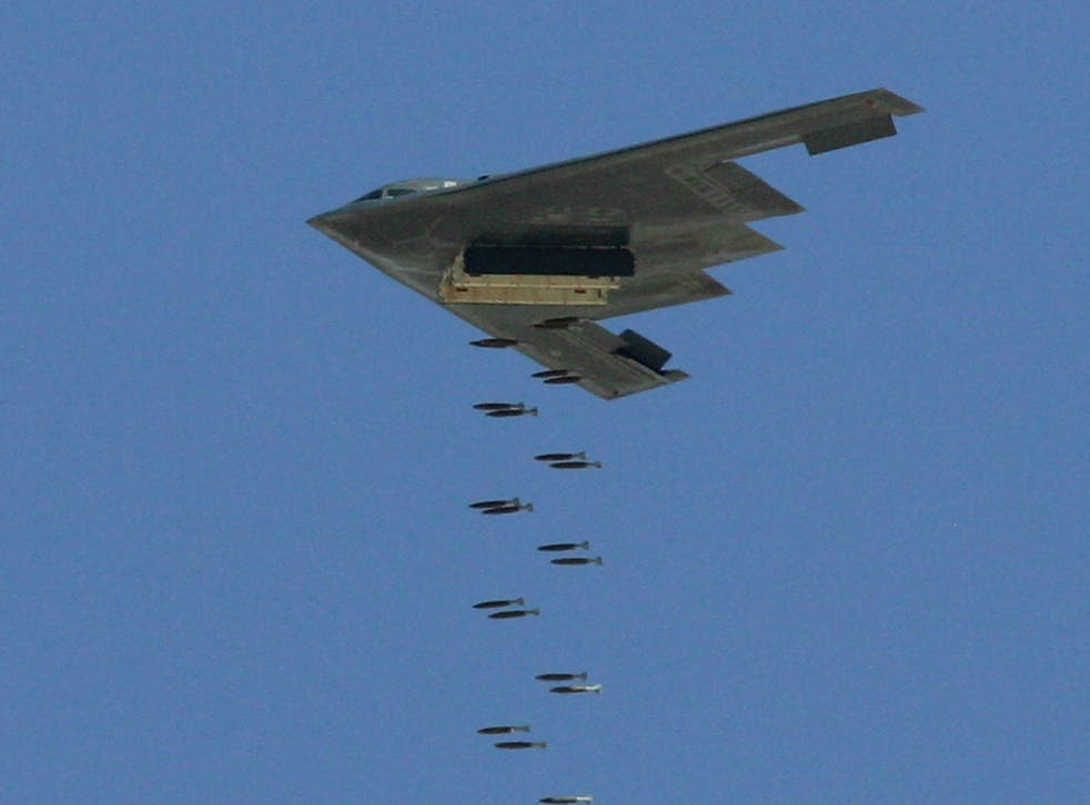 Two US B-2 Spirit stealth bombers were flown from Missouri for the mission