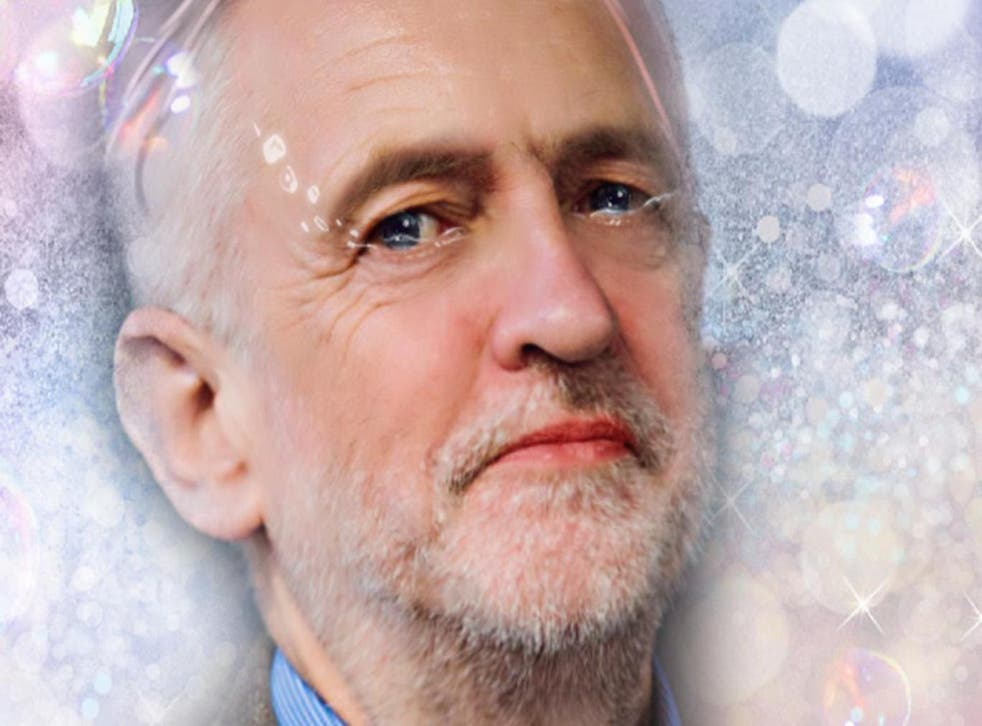 Jeremy Corbyn, as 'beautified' by Meitu and Indy100