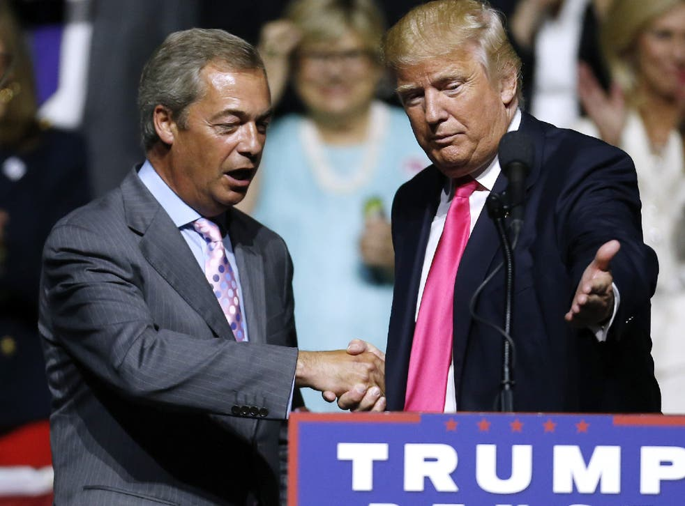 Nigel Farage claims, 'The Trump administration is offering Britain a great gift.'