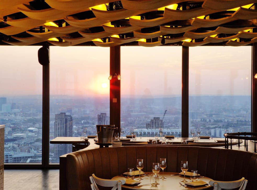 One of the best parts of the Duck & Waffle is the view over the city below