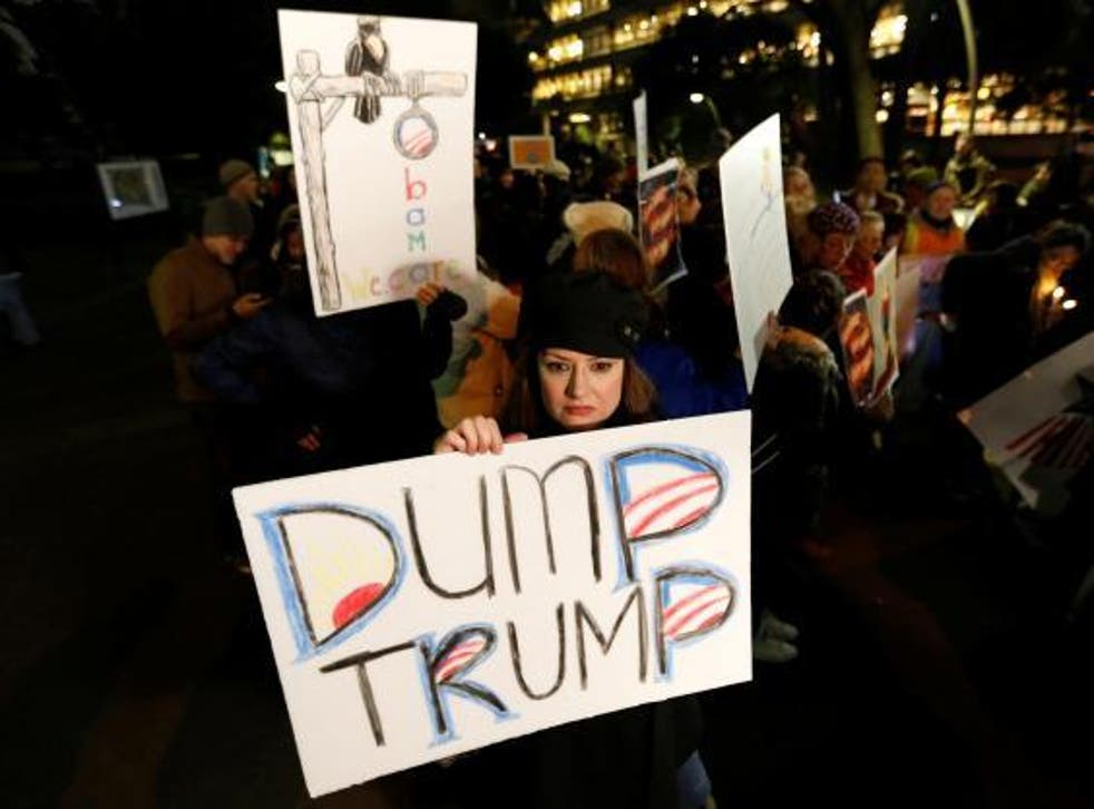 Today thousands of women will march against Trump