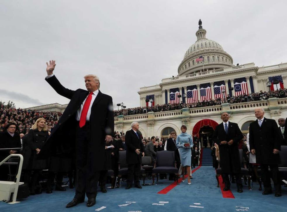 Donald Trump delivered a speech like any other,  terse and blunt, and shorn of any of the soaring rhetoric of inaugurations past