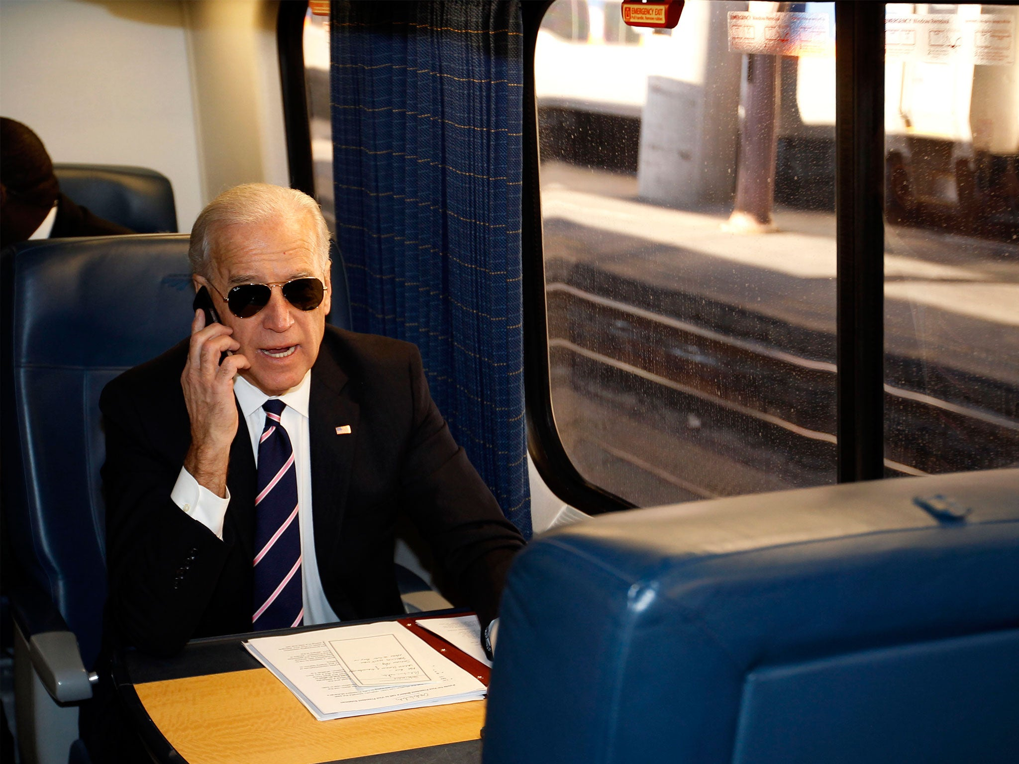 'Amtrak' Joe Biden takes the train home to Delaware after ...