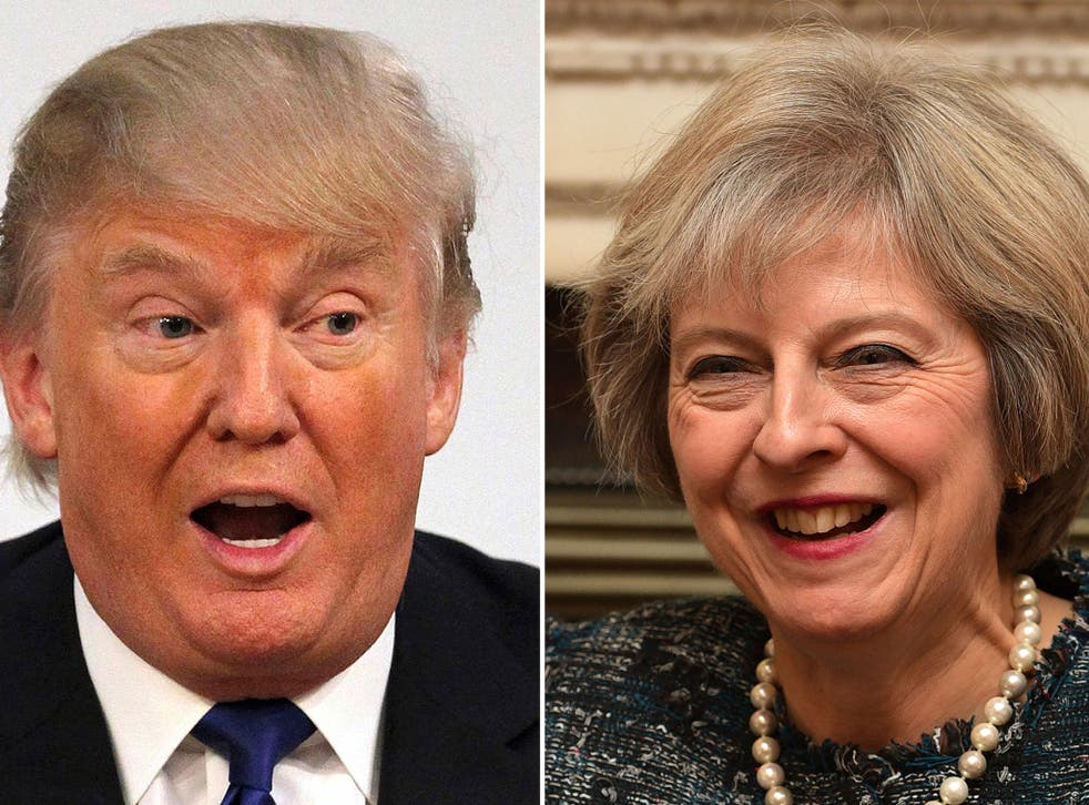 Theresa May is hoping to build a strong relationship with Donald Trump