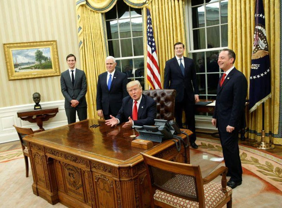 President Donald Trump made various promises for his first day in charge