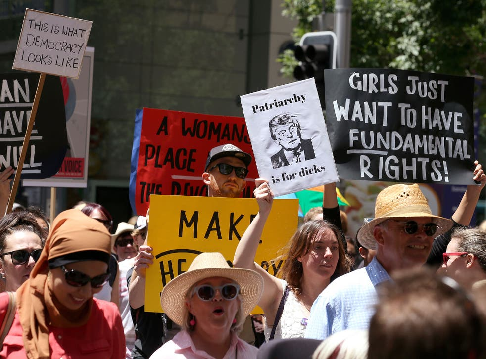 The first women's march took place in Sydney, Australia. Further marches will take place in London, Washington and across the globe on Saturday