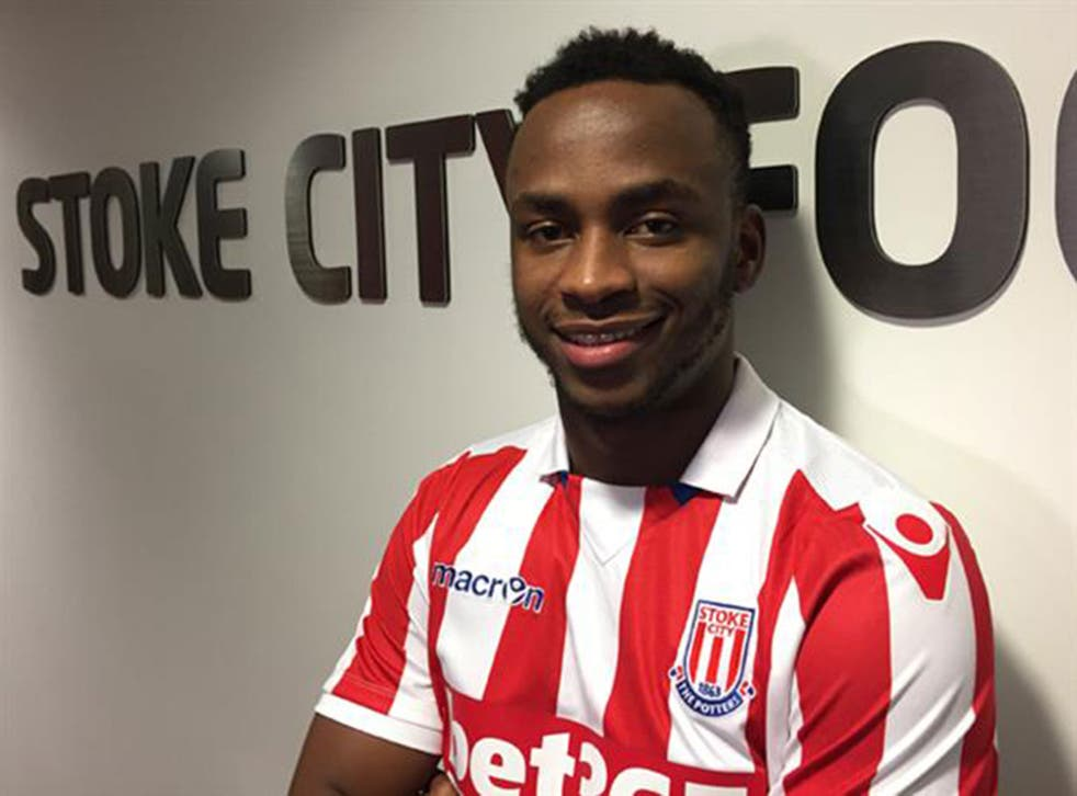 Saido Berahino is unveiled as a Stoke City player after leaving West Brom