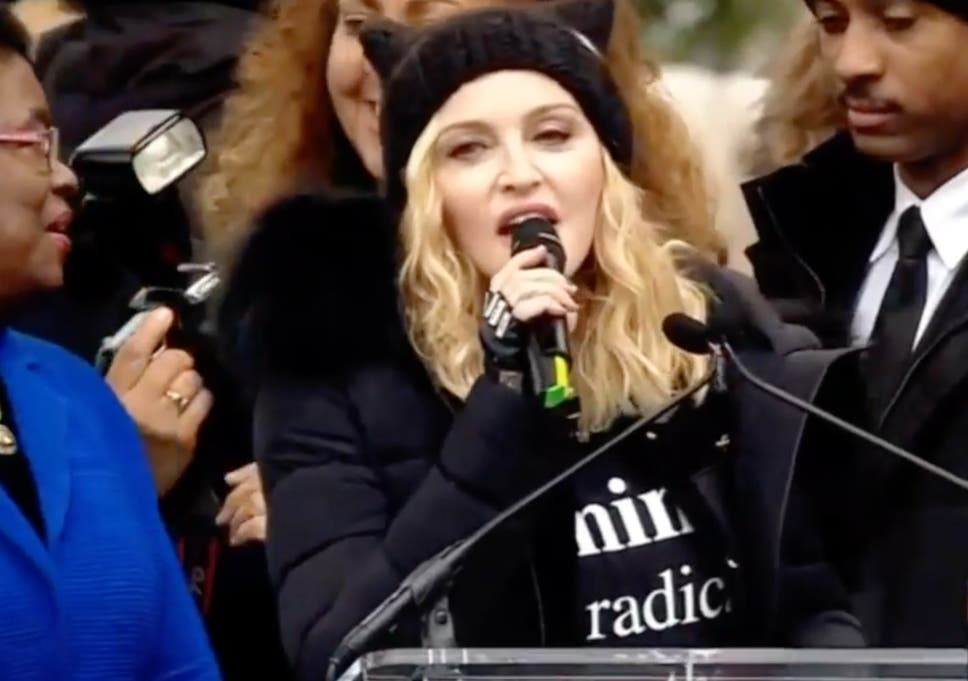 Women S March Madonna Said She Thought About Blowing Up White