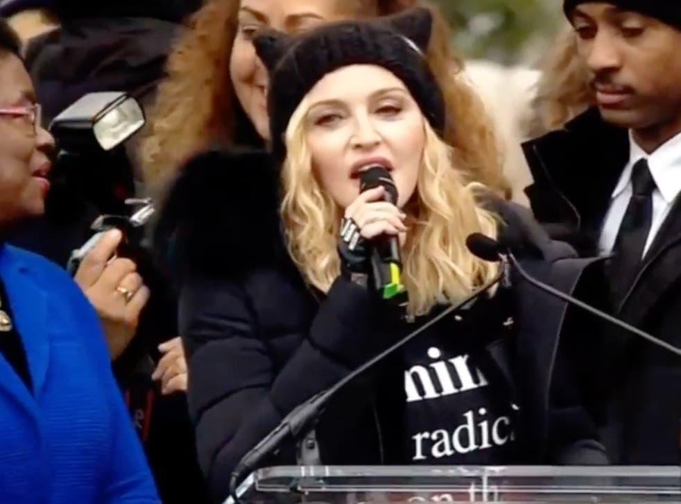 Madonna speaks at Women's March on Washington