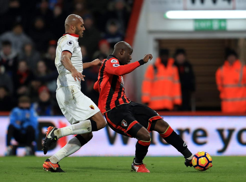 Benik Afobe scores Bournemouth's equaliser to earn a point for the home side