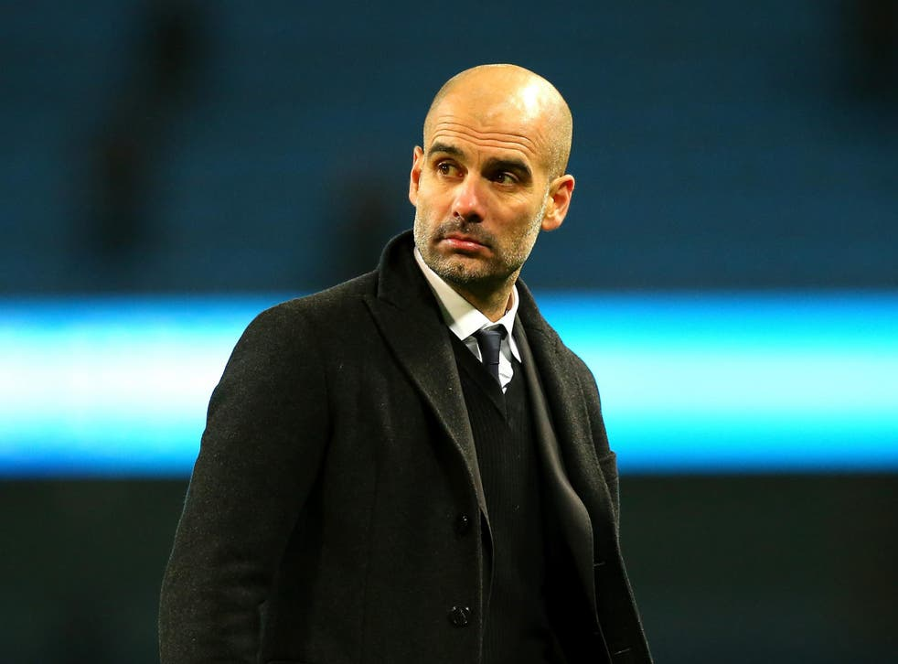 Guardiola was unhappy with the decision not to give Sterling a penalty