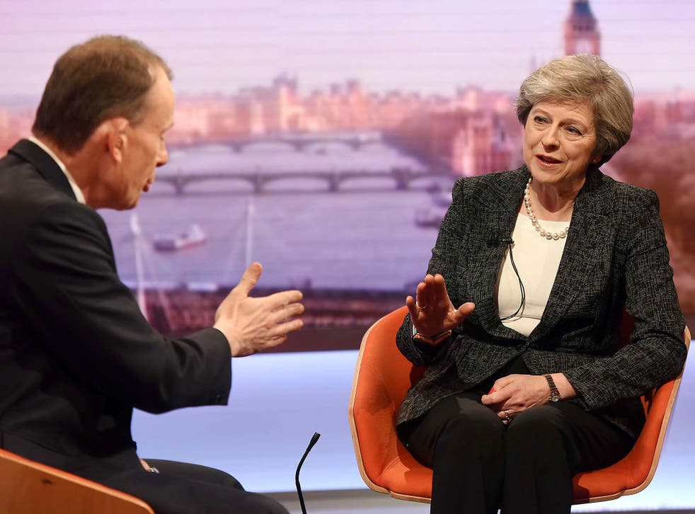 The Prime Minister told Andrew Marr the industrial strategy was about building the 'shape' of Britain's future economy