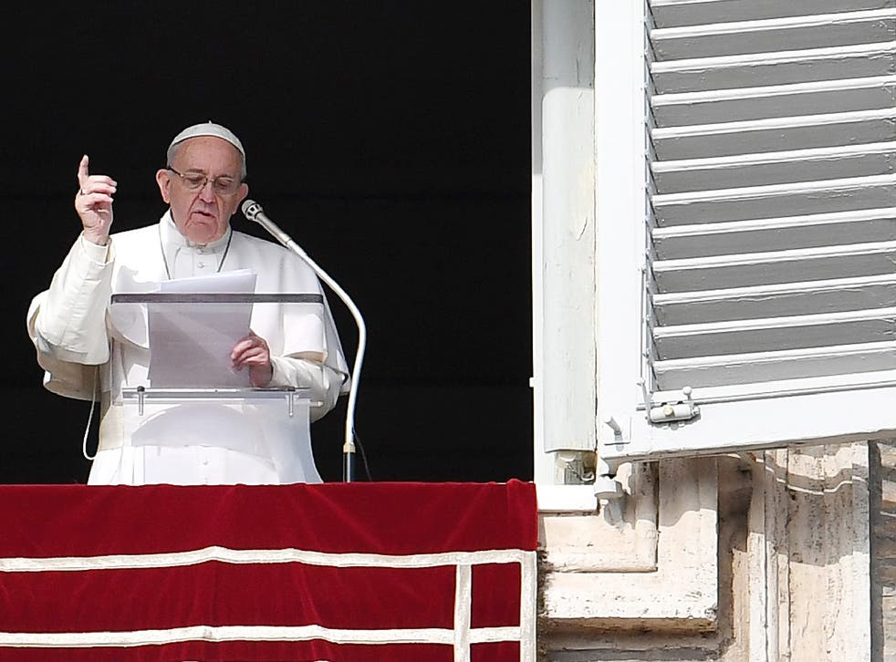 Pope says 'we must wait and see' before judging Mr Trump