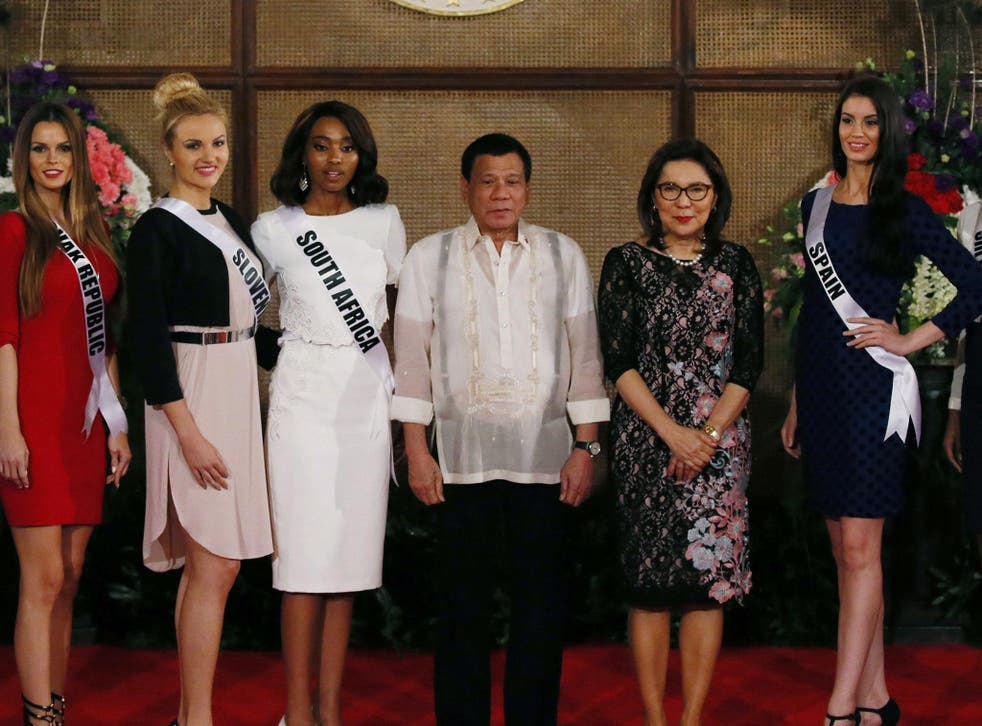 Rodrigo Duterte, 71, has been criticised for a number of his remarks on women
