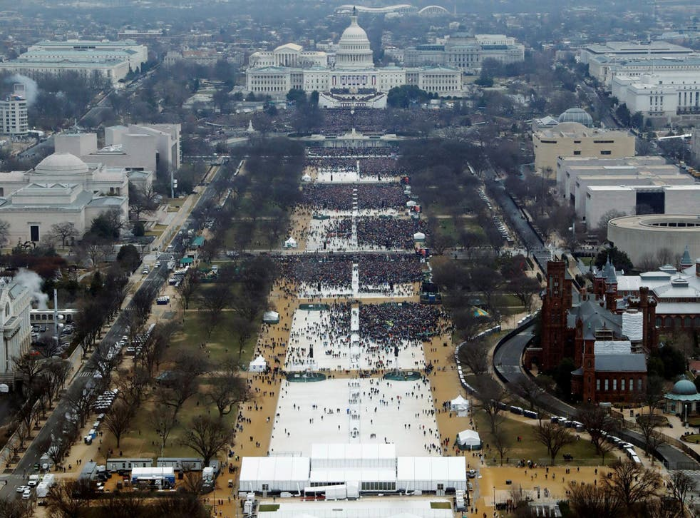 Crowds attended the inauguration ceremony to swear in US President Donald Trump – but how many were in attendance?