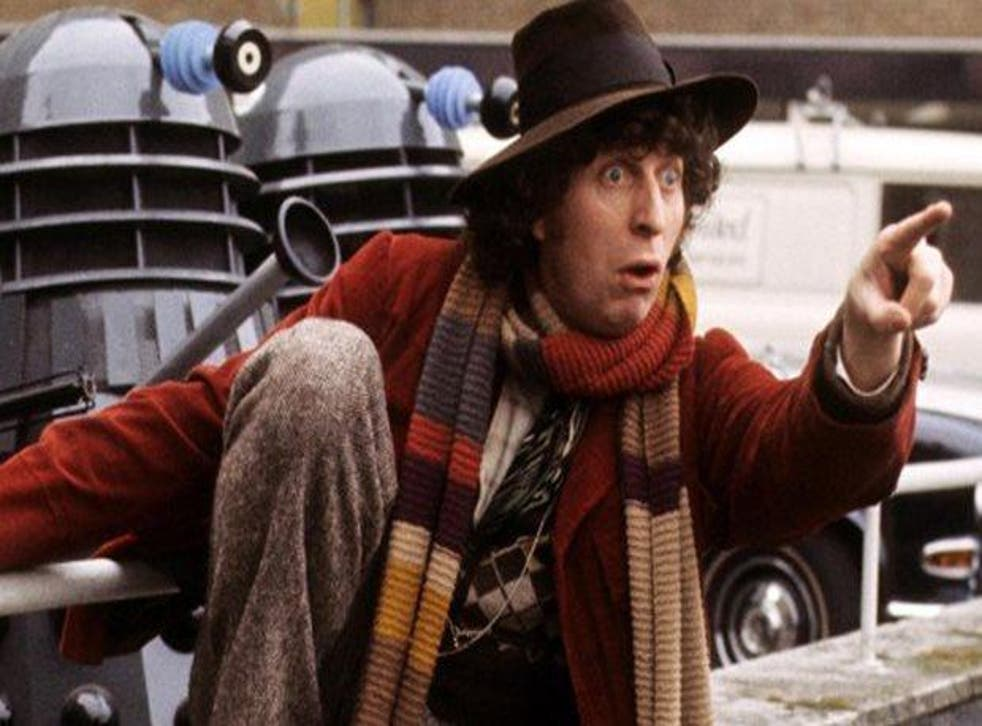 Tom Baker as the Doctor in series four of Doctor Who