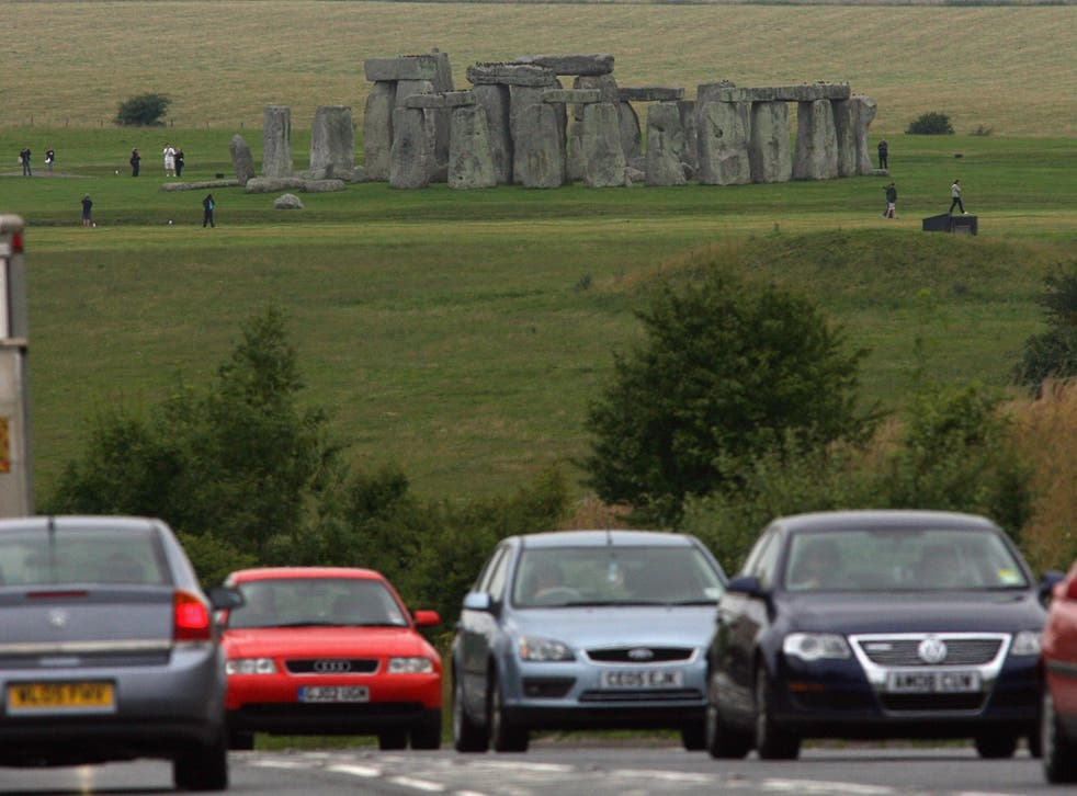 The busy road runs within 165 metres of the 5,000-year-old monument, offering drivers a stunning view