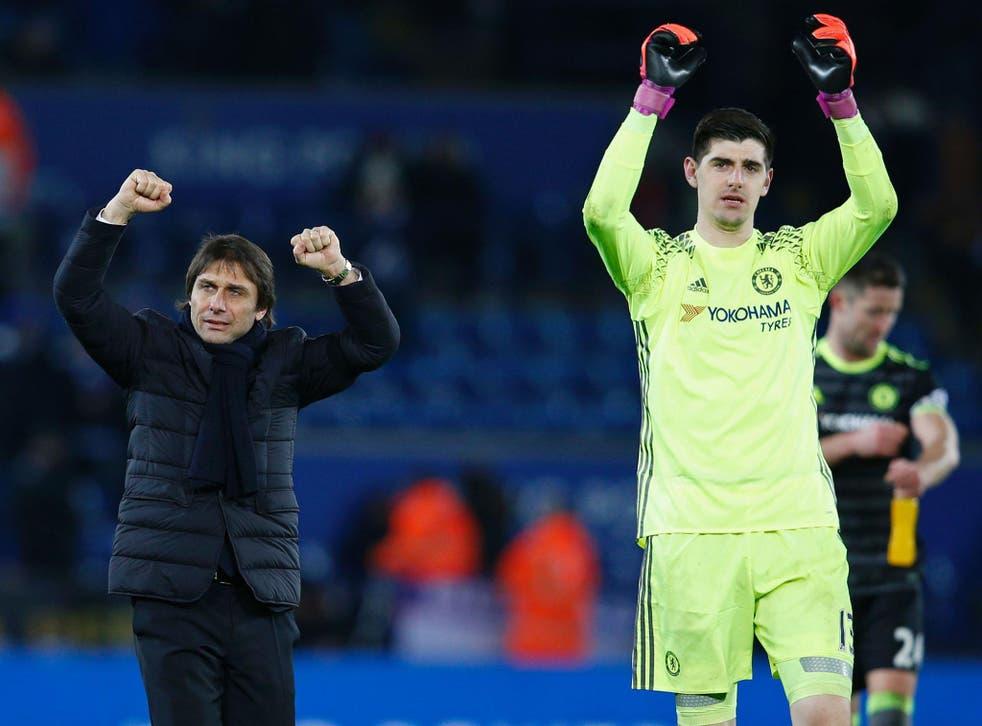 Courtois hailed the team spirit Antonio Conte has instilled at Chelsea