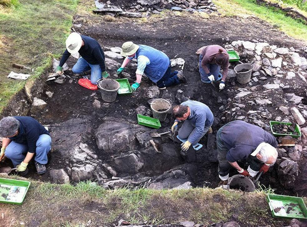 Excavation at Trusty's Hill, which began in 2012, has revealed a complex type of fort, dating back to 600AD