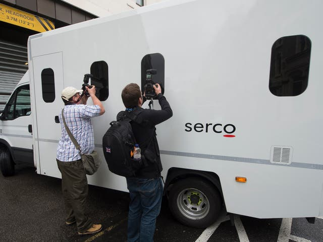 Serco hold the MoJ contract to transport prisoners to court