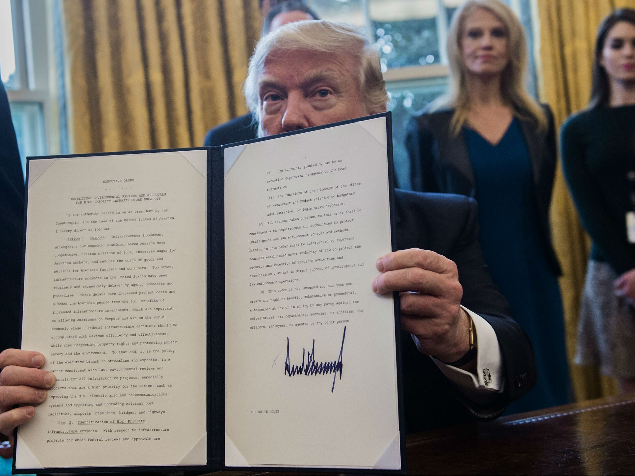 Donald Trump's White House 'gags' at least three US