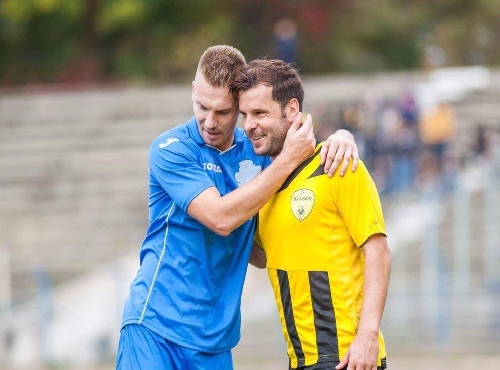 Petean in action for his final club, Dacia Unirea Braila