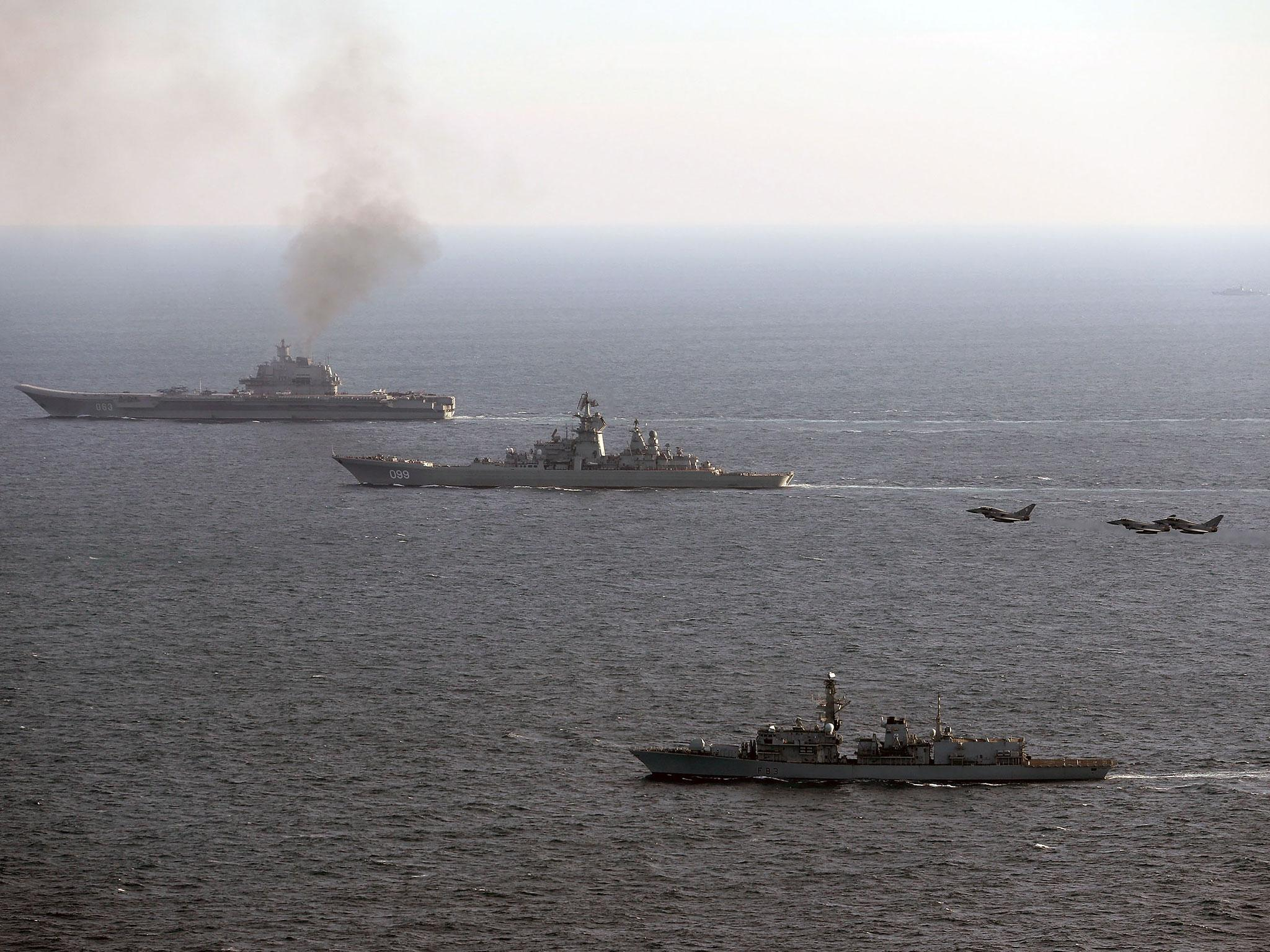russian aircraft carrier admiral kuznetsov travels through english channel the independent