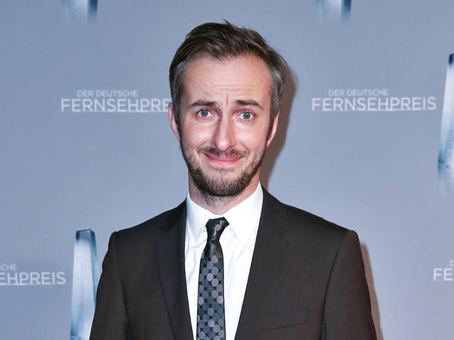 German comedian Jan Boehmermann, who was accused of criminally 'insulting' the Turkish president with a satirical poem