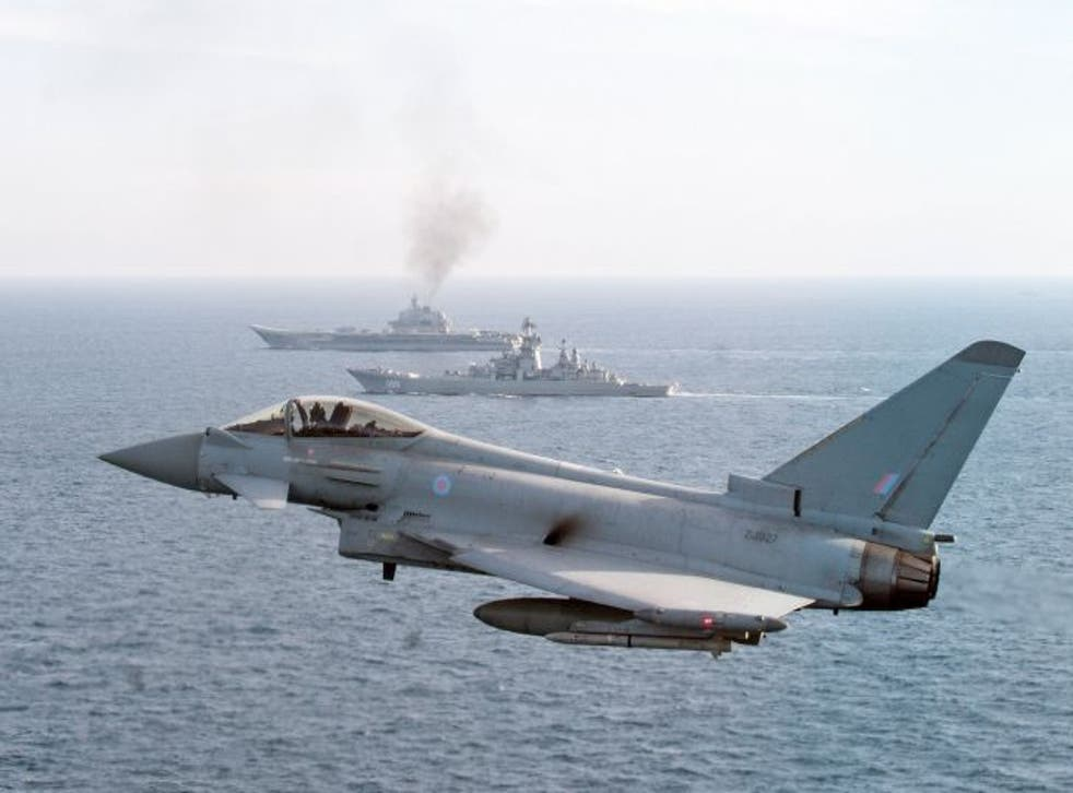 RAF Typhoons have been scrambled to escort a number of Russian jets and boats in recent months
