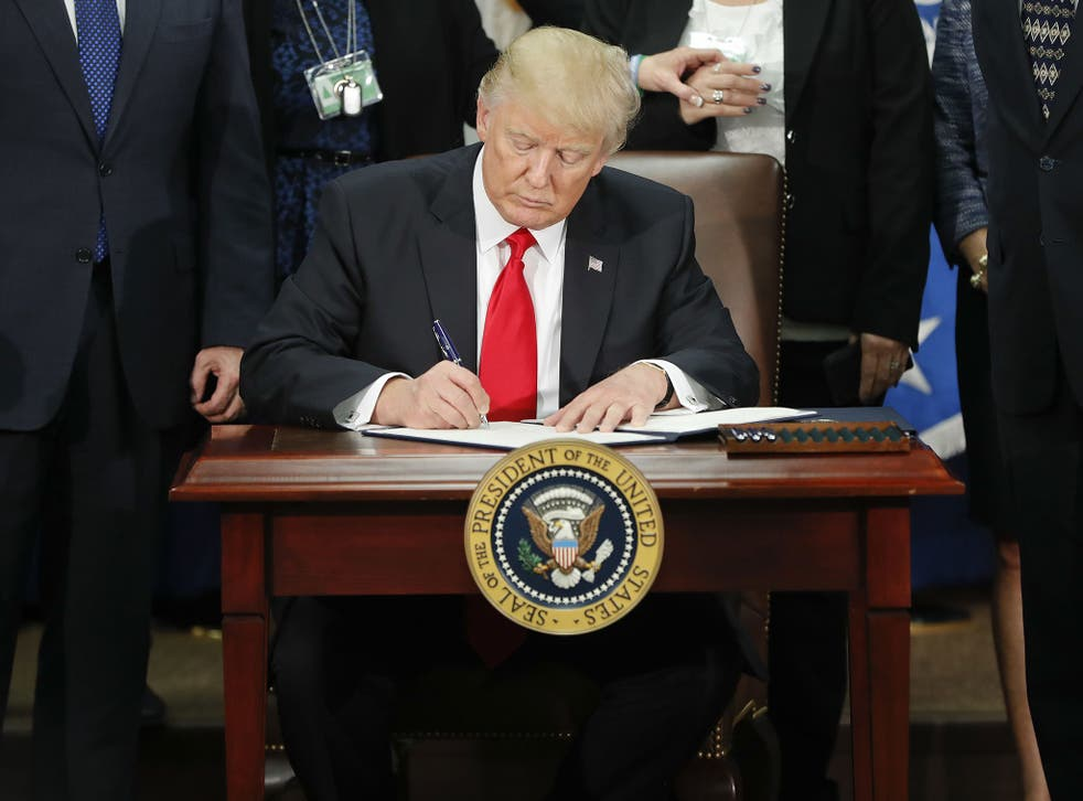 On 25 January 2017, President Donald Trump signed an executive order for border security and immigration enforcement improvements at the Department of Homeland Security