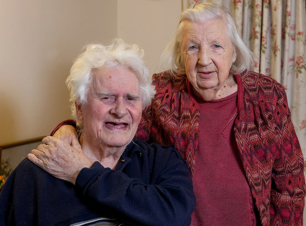 Ken Selway and Joan Neininger pictured at their residential home in Gloucester