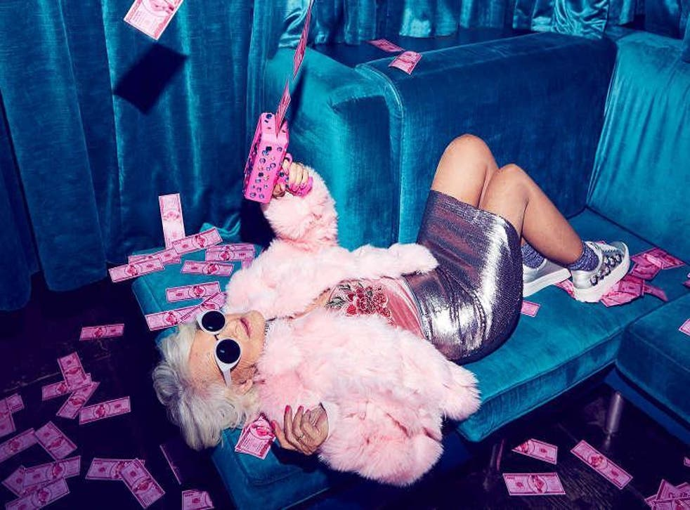 Baddie Winkle became the face of Missguided's partywear campaign Photo: Missguided