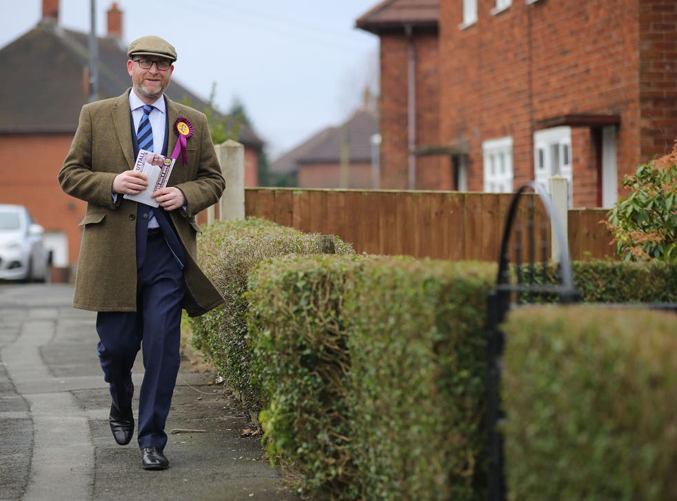 Ukip's leader Paul Nuttall is contesting in the Stoke-on-Trent Central by-election