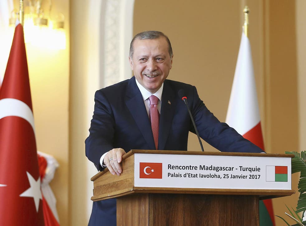 Erdogan will hold a referendum in April on the new presidential system in which all power is focussed on himself