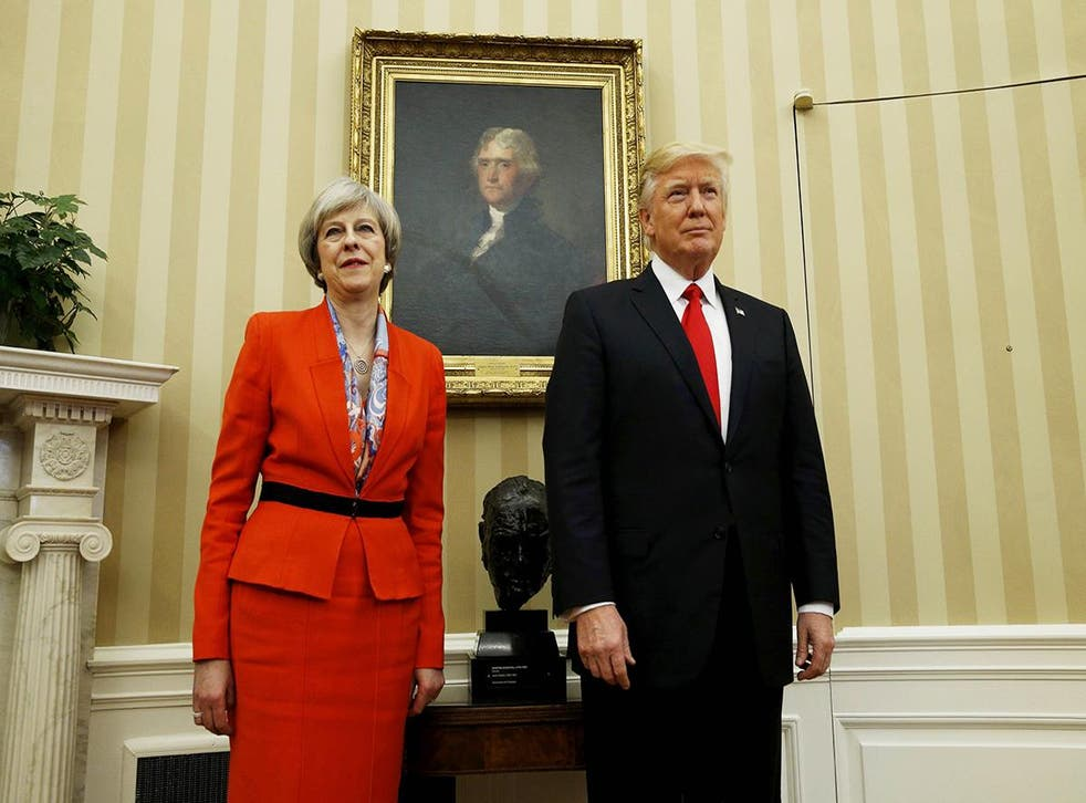 Prime Minister Theresa May and President Donald Trump at the White House
