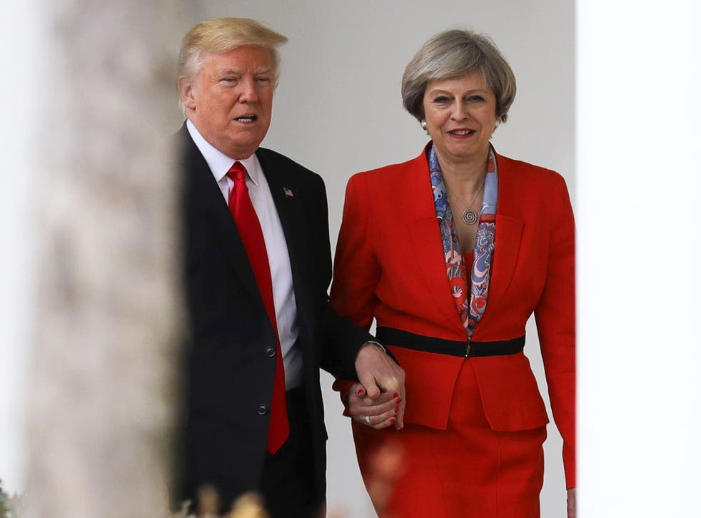Theresa May and Donald Trump during the PM's visit to the White House