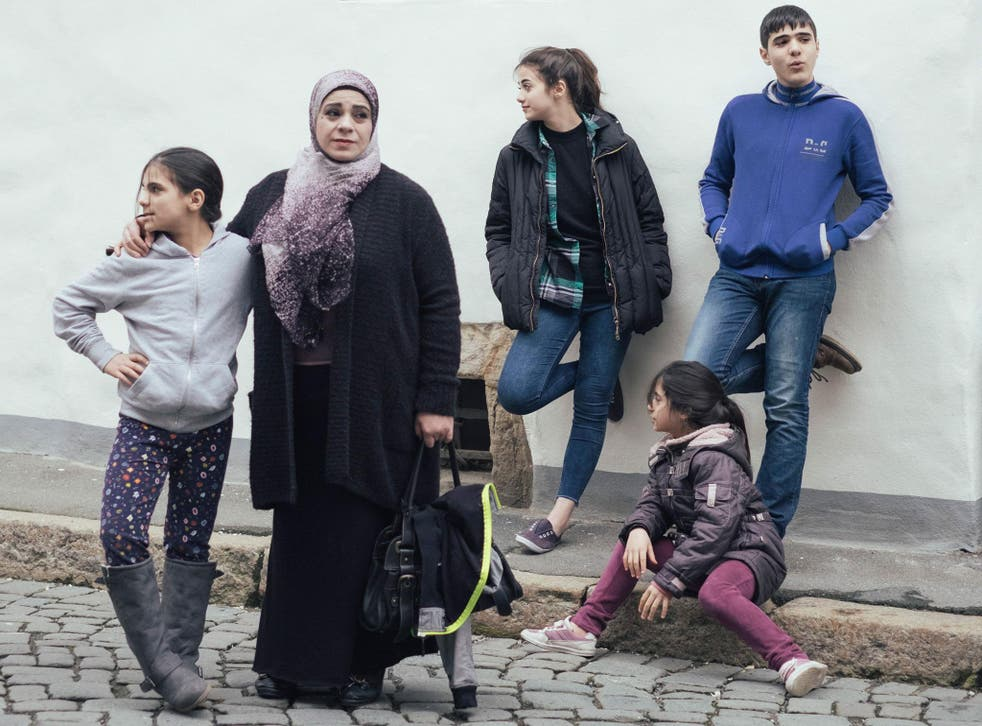 Hala Kamil and her family, who feature in an Oscar-nominated documentary about their escape from Syria